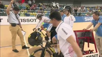 多次刷新纪录 带来自行车中国首金的女子团体竞速赛