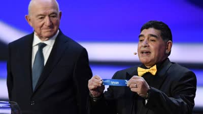 世界杯抽签仪式全程回顾 马拉多纳抽出西葡大战