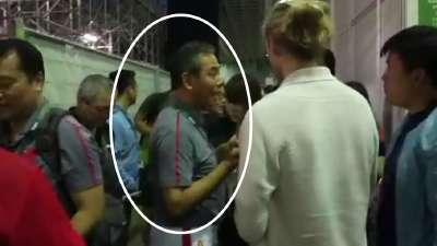 蔡振华局长现身男乒决赛 为奥运健儿加油