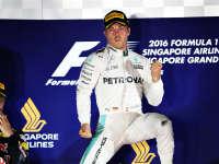 F1新加坡站正赛冲线:罗斯伯格200场里程碑夺冠!