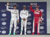 F1巴西站排位赛赛后合影
