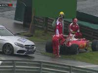 F1巴西站正赛:莱科宁撞墙回放
