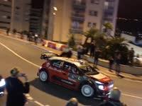 WRC蒙特卡洛站赛车上街 摩纳哥充斥引擎怒吼