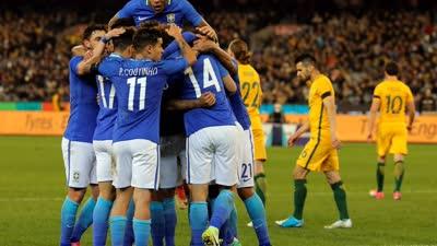 比赛报告-保利尼奥脚跟神助攻 巴西4-0澳大利亚