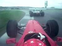 F1经典车载:2000年美国大奖赛 舒马赫DC精彩缠斗