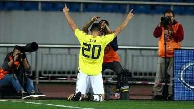【进球GIF】帕尔多低射直蹿远角 中国0-1哥伦比亚