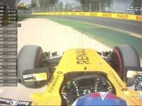 F1澳大利亚FP3 帕默尔驶上沙石区