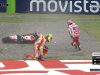 MotoGP阿根廷站正赛冲线 杜卡迪两人撞车