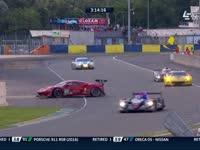 勒芒24小时耐力赛:法拉利82号赛车甩尾