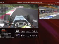 F1奥地利站FP2 全场回顾(维修站)