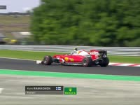 F1匈牙利站FP1:莱科宁四轮驶出白线