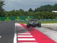 F1匈牙利站FP2:罗斯伯格赛车驶出赛道