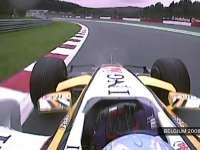 F1比利时站经典:2008年阿隆索最后一圈上到第四