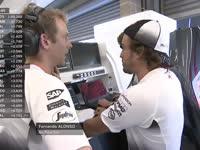 F1比利时站FP1:阿隆索更换引擎一练没成绩