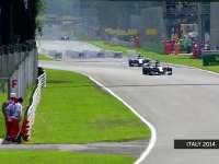 F1意大利站经典:2014年汉密尔顿逼出罗斯伯格失误