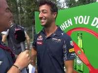 F1意大利站车手巡游:里卡多秀意大利语时间