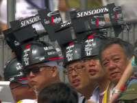 F1日本站FP3:一排本田车迷头戴DRS抢镜