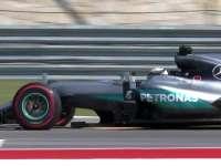 F1美国站排位赛集锦 小汉拿下奔驰第70个杆位