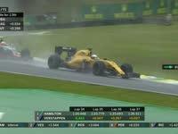 F1巴西站正赛:巴顿TR抱怨轮胎挣扎
