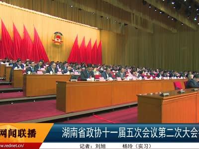 湖南省政协十一届五次会议举行第二次大会