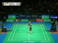 全英羽毛球公开赛男单八分之一决赛李宗伟vs王子维 全场集锦