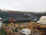 """地表最强航母""""福特号""""正式交付美海军"""