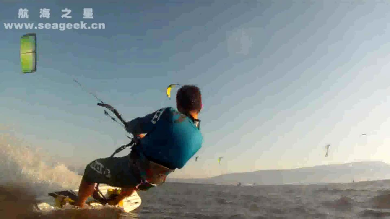 引领水上运动-千万风筝冲浪达人共演海上秀-风筝冲浪C1065