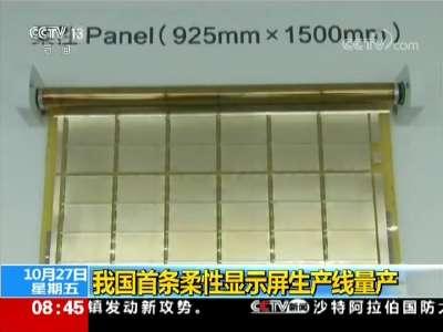 [视频]我国首条柔性显示屏生产线量产