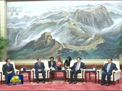 [视频]张德江会见韩国总统
