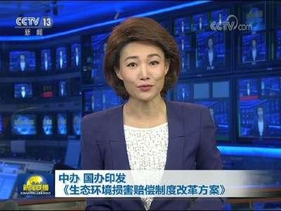 [视频]中办 国办印发《生态环境损害赔偿制度改革方案》