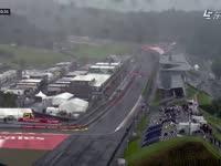 风好大雨好急 F1奥地利站FP2发车区航拍