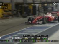 F1英国站正赛:维特尔首先进站换干胎