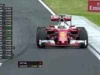 F1匈牙利站FP1 维特尔冲出赛道探索路肩