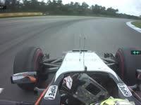F1德国站FP2:佩雷兹报告轮胎磨出了平斑