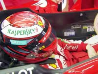 F1德国站FP3 Kimi:紧紧安全带上场啦