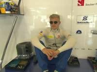 F1比利时站FP3:奥康头盔上画太阳 埃里克森小熊助威