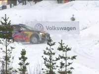 WRC瑞典站SS17:奥吉尔一号弯打转撞墙