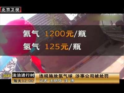 [视频]违规施放氢气球 涉事公司被处罚