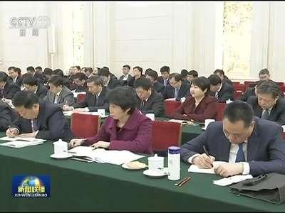 [视频]张高丽参加天津代表团审议