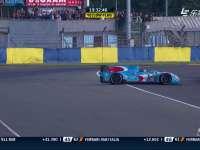 勒芒24小时耐力赛:28号赛车打滑撞墙
