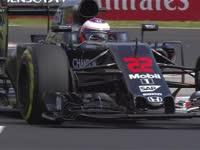 F1匈牙利站FP1:巴顿过弯时摇摆的赛车