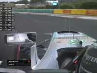F1匈牙利站排位赛Q3停表:小汉被挡 Nico杆位
