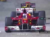 F1新加坡站经典 2010年阿隆索强势顶住维特尔夺冠