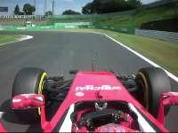 F1日本站FP1:莱科宁过弯打滑上草地