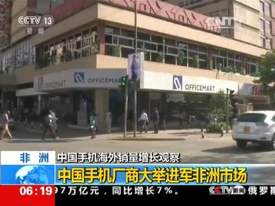 [视频]中国手机海外销量增长观察