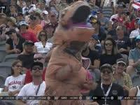 啊呜啊呜啊F1美国站正赛:看台上又来了一只恐龙