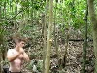 《极限荒野生存教学》第六期 两年前造的石锛