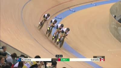 女子团体追逐赛 争夺第四名澳大利亚胜出