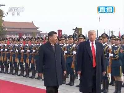 [视频]习近平主席举行仪式欢迎美国总统特朗普访华