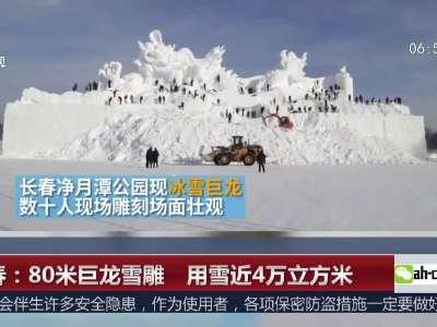 [视频]长春:80米巨龙雪雕 用雪近4万立方米